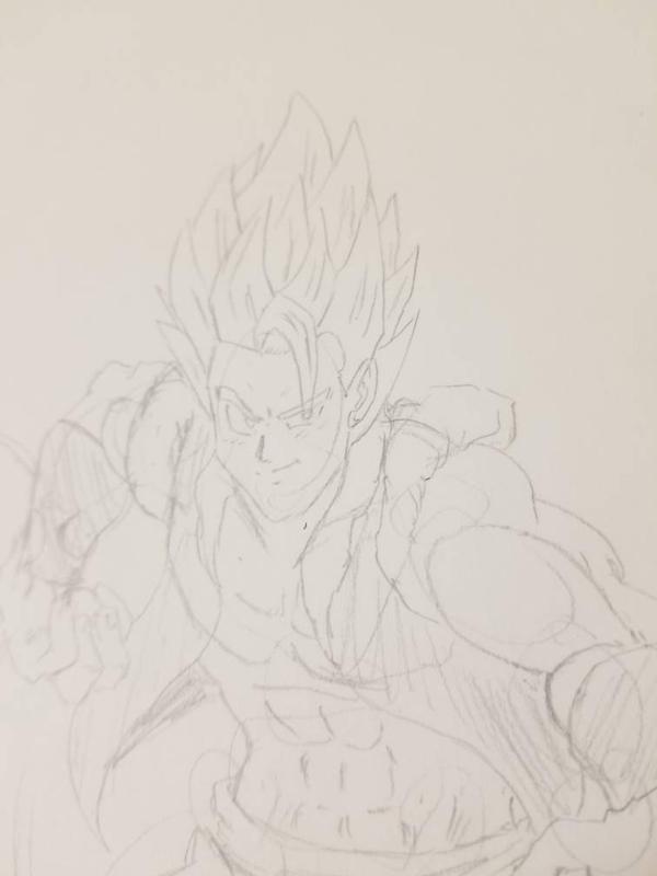 Dragon Ball Super Broly Gogeta Sketch By X Blade13 On Deviantart