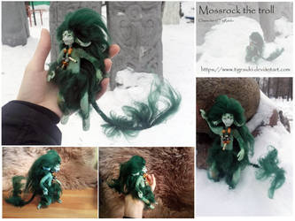 Mossrock the troll, poseable mini-doll by TigRaido