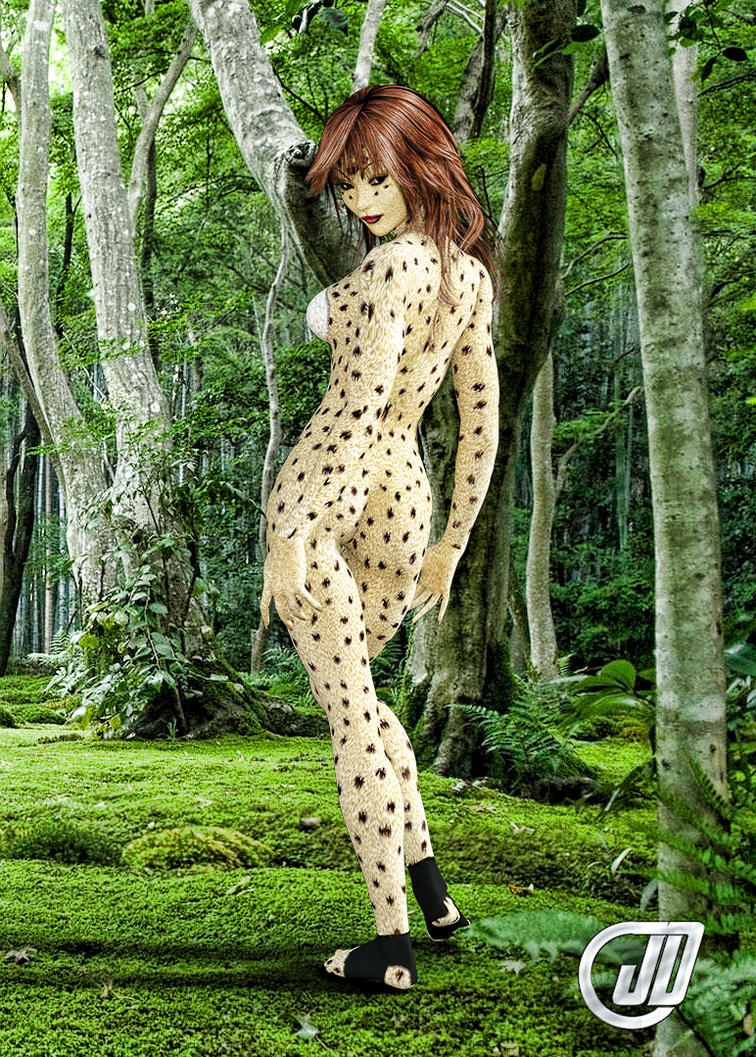 Forest Catgirl by juantastic