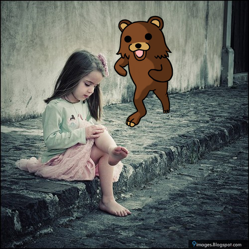 PEDO BEAR STALKING GIRL by SOPTX on deviantARTpedo girl