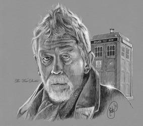 The War Doctor with TARDIS