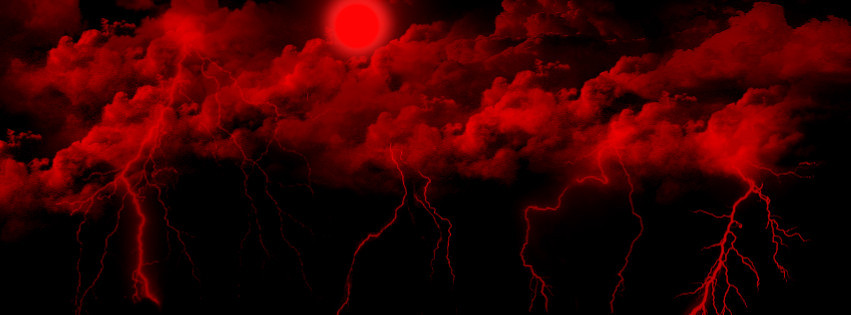 Blood Red Thunderstorm By Mystical Designs