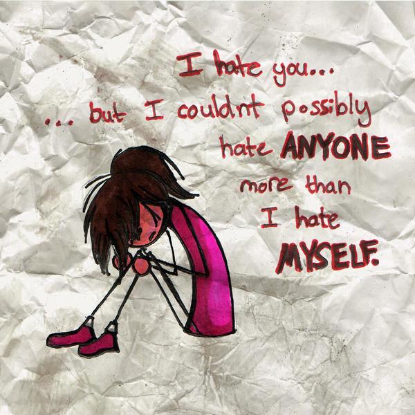 Self-Hate by Trish-the-Stalker on DeviantArt
