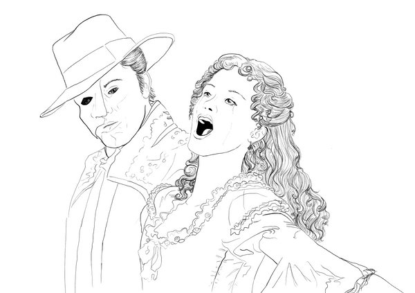 opera singer coloring pages - photo#27