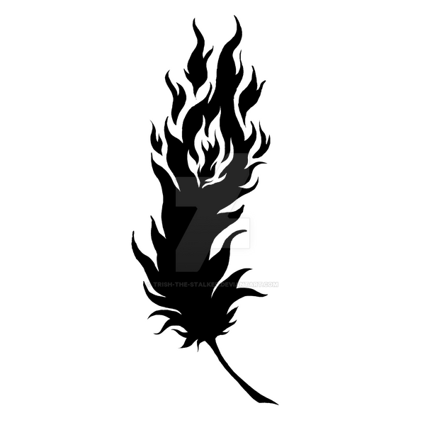 Phoenix Feather Tattoo by Trish-the-Stalker