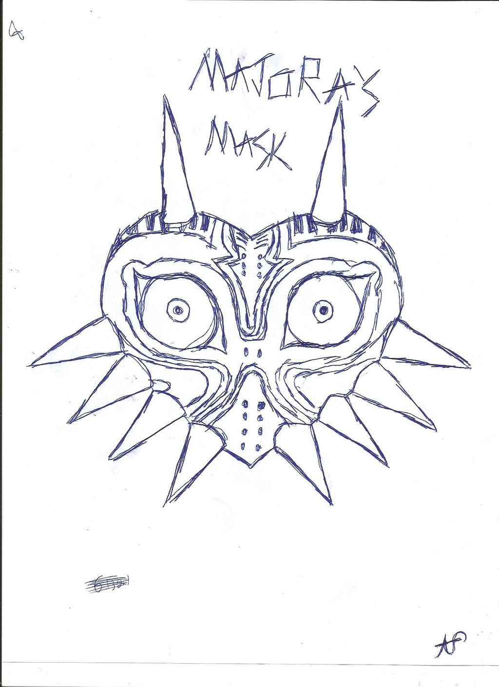 Major'S Mask Drawing 106