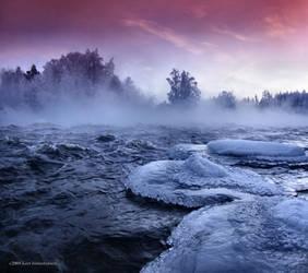 misty river by KariLiimatainen