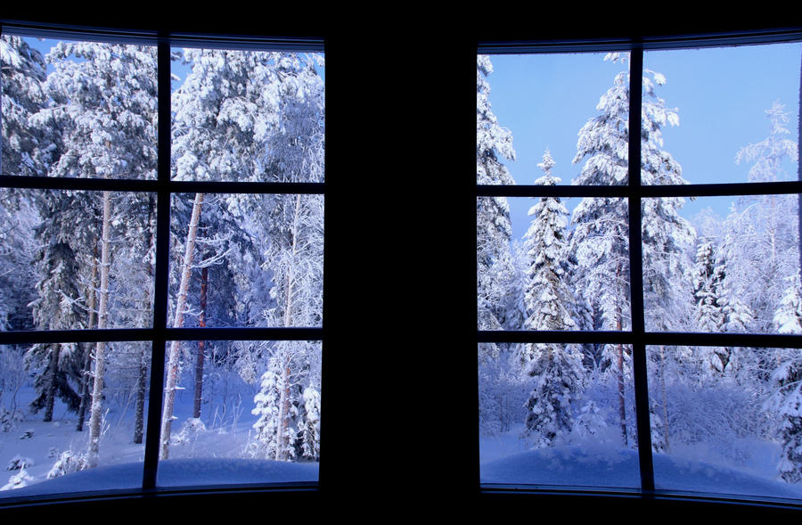 view window in the morning by KariLiimatainen