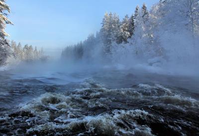 Winter Rapids by KariLiimatainen