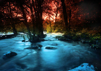 view of rapids by KariLiimatainen