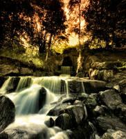 a small waterfall by KariLiimatainen