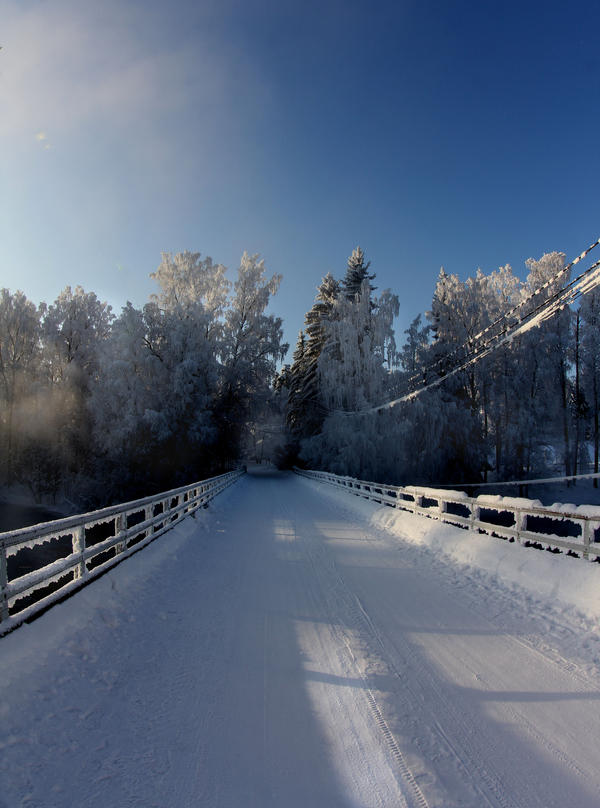 Winter View of a bridge by KariLiimatainen