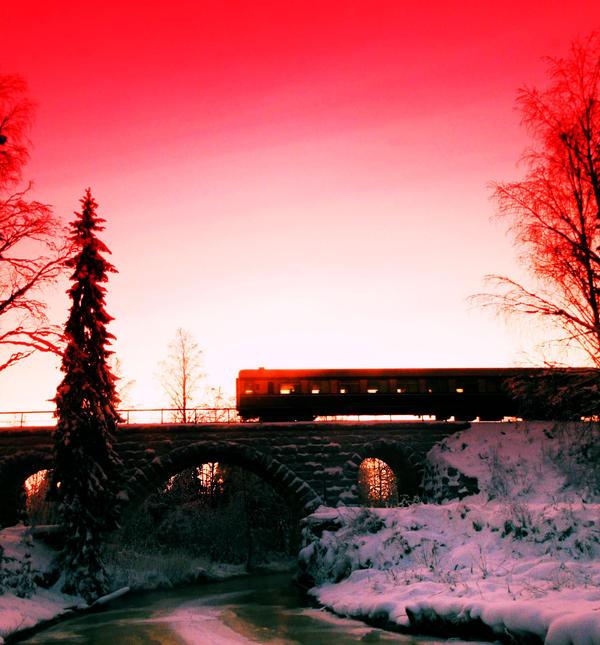 train went already by KariLiimatainen