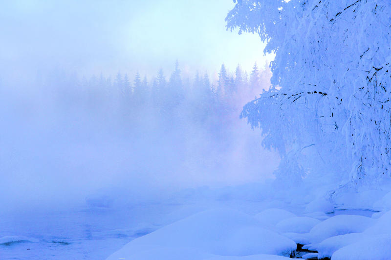 cold winter day by KariLiimatainen