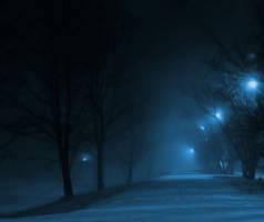 foggy park by KariLiimatainen