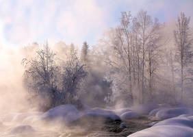 Foggy river by KariLiimatainen