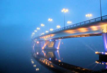 bridge in the mist by KariLiimatainen