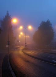 Empty road by KariLiimatainen