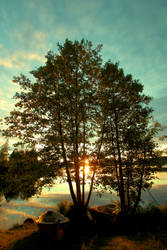 Summer in Finland middle of night. by KariLiimatainen