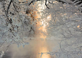 River view in winter by KariLiimatainen