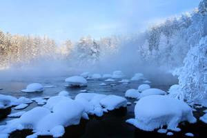 Beautiful winter morning. by KariLiimatainen