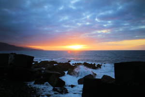Beautiful sunset at sea.