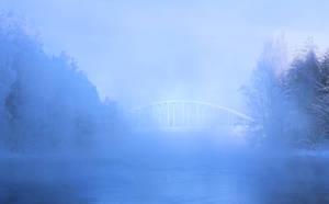 The bridge hardly shows by KariLiimatainen