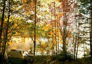 Peaceful autumn morning.