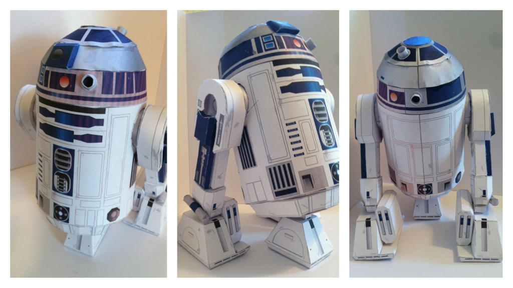 R2D2 papercraft by n8s