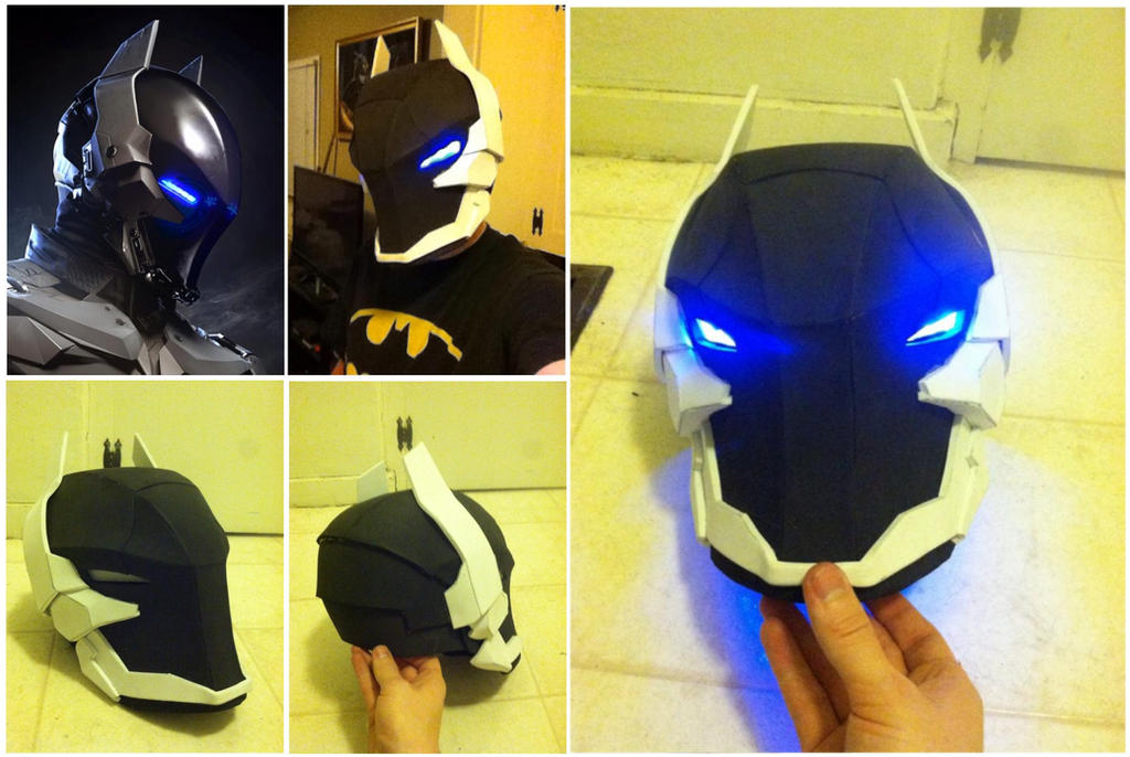 arkham knight foam helmet template vast