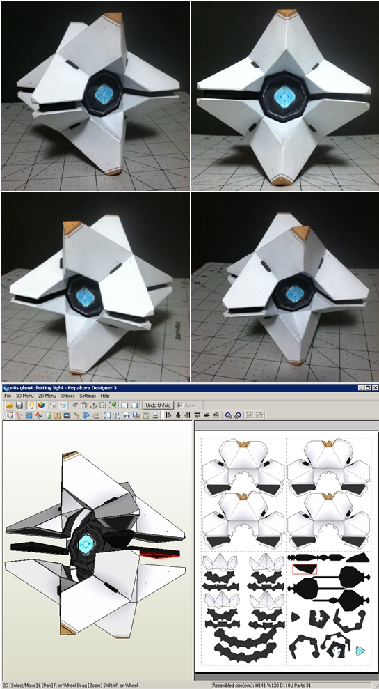 Paper Craft Destiny Ghost