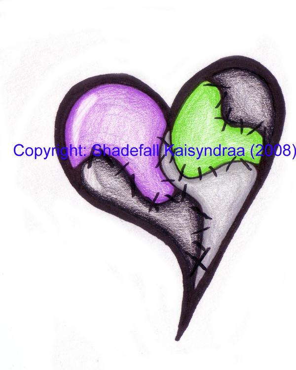 tattoo design patchwork heart by kokoro eika on deviantart. Black Bedroom Furniture Sets. Home Design Ideas