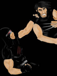 Cyclops vs. Wolverine by saleemnoorali