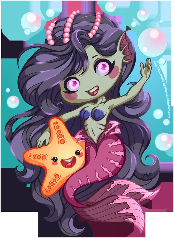 Friendly mermaid by gyanax
