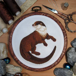 Embroidery_Otter by gyanax
