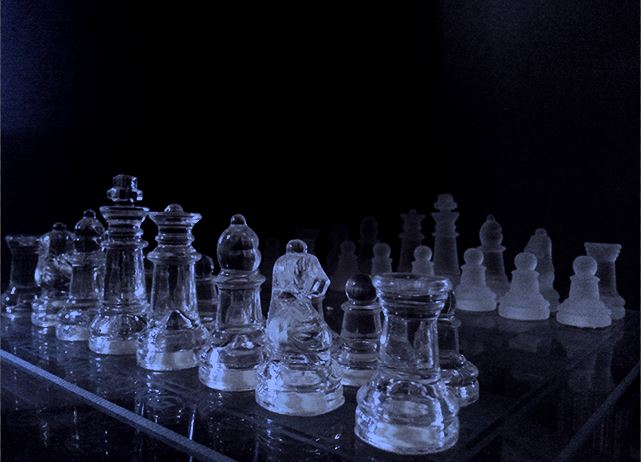 Glass Chess Pawns by elilee23