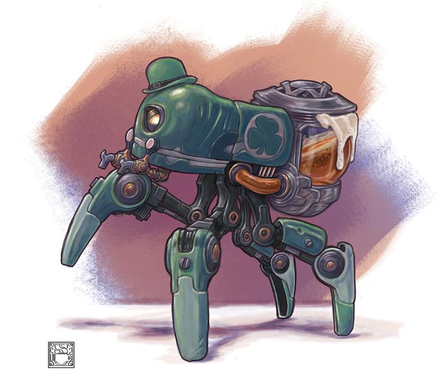 Saint Patri-Bot by 0CoffeeBlack0