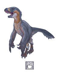 Deinonychus antirrhopus by 0CoffeeBlack0
