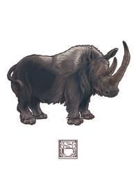 Coelodonta antiquitatis (Woolly Rhinoceros) by 0CoffeeBlack0