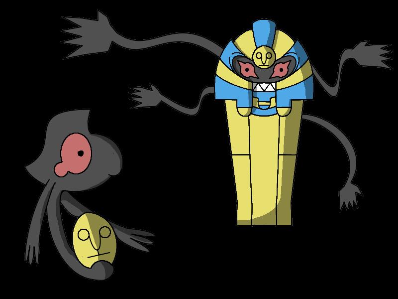 Pokemon Cofagrigus Episode Yamask and Cofagrigus by