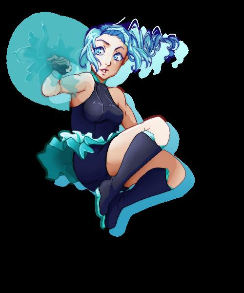Aqua jump by Meeps-Chan