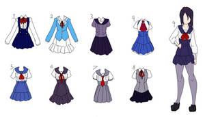 Yandere Sim Uniform Re-designs