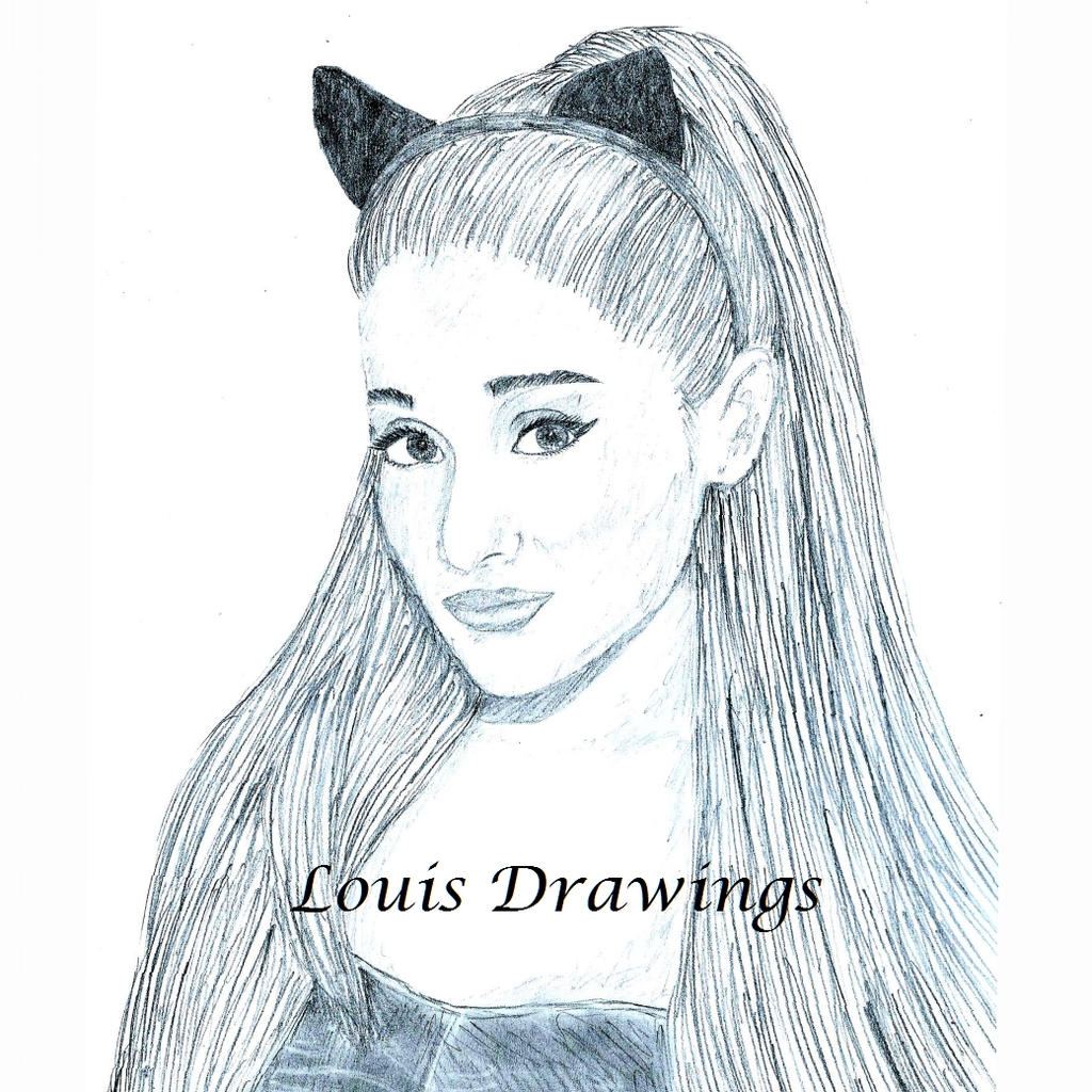 Ariana Grande Drawing By LouisDrawings On DeviantArt
