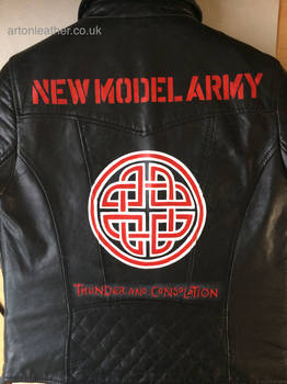 New Model Army painted leather jacket