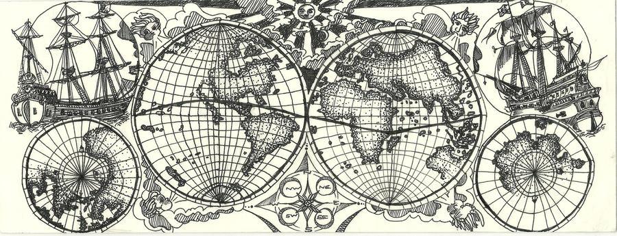 Th Century World Map By Smonipie On DeviantArt - 17th century world map
