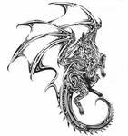 Tribal DragonicWolf