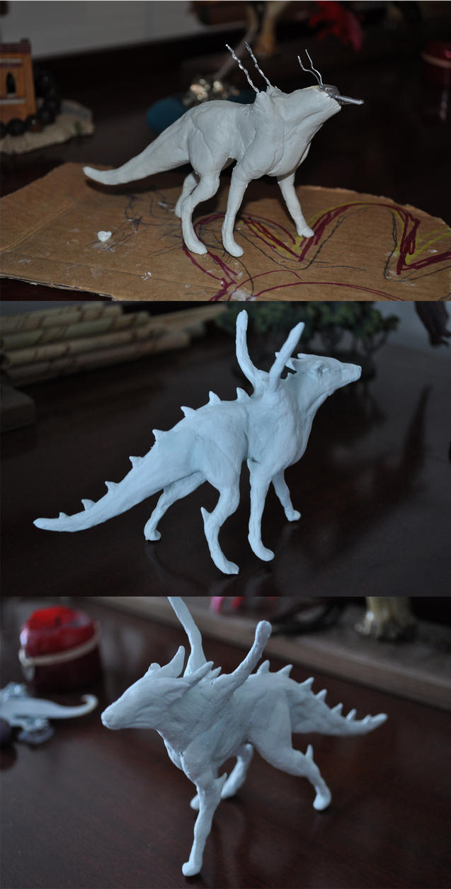Dragonicwolf Sculpture WIP by dragonicwolf
