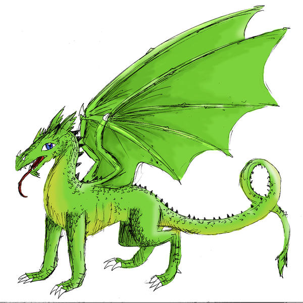 European Dragon: Colored European Dragon By Dragonicwolf On DeviantART