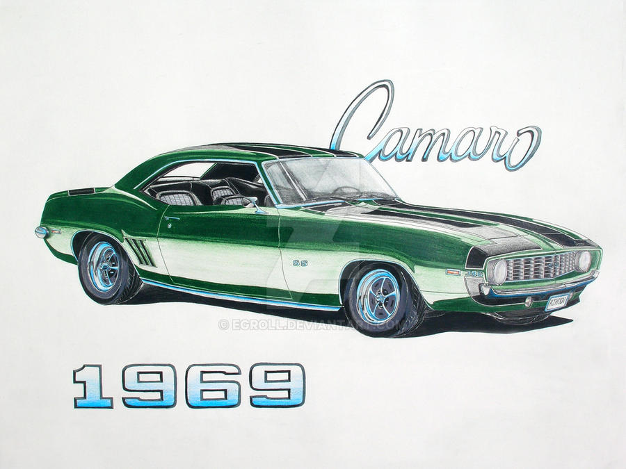 1969 chevrolet camaro ss by egroll on deviantart