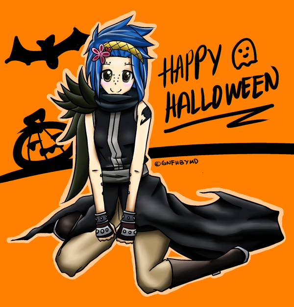 Fairy Tail's Levy McGarden Happy Halloween for LFT by Anyafish